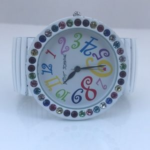 Betsey Johnson Women Watch Multi Color Crystal